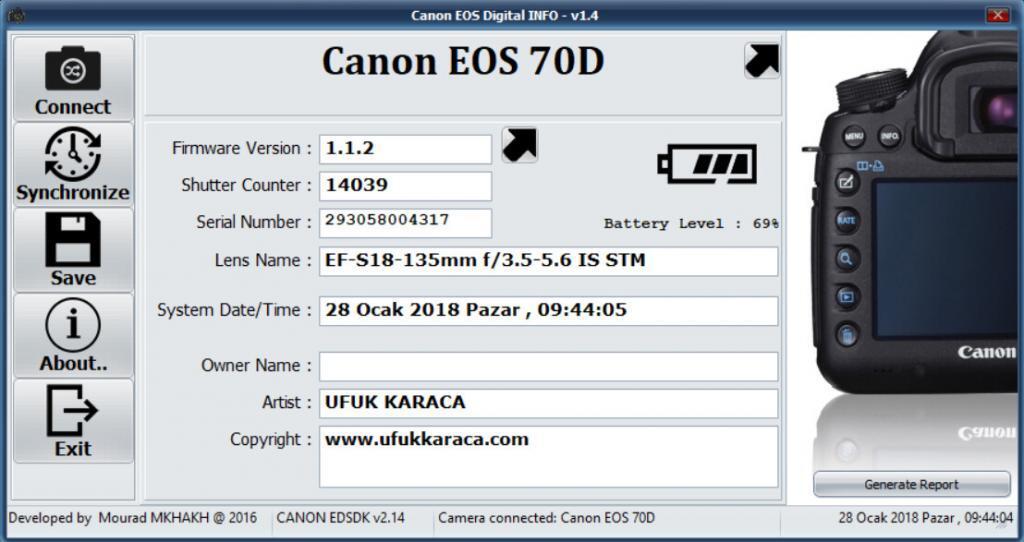 Canon Shutter Sayısı Öğrenme, Shutter Nasıl Öğrenilir