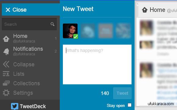 Twitter, TweetDeck, Uygulama